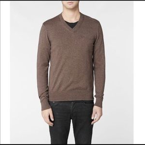 ALL SAINTS Men's V-Neck Wool & Cashmere Sweater